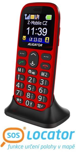 ALIGATOR A510 Senior červený-černý + stol.nab.