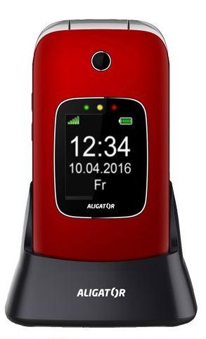 ALIGATOR V650 Senior červeno-stříbrný+st.nab