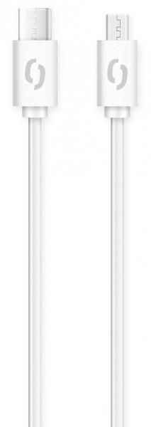ALIGATOR Datový kabel POWER 3A, USB-C/microUSB bílý