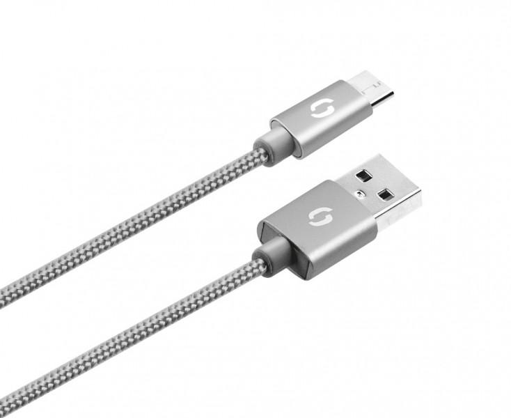 ALIGATOR PREMIUM Datový kabel 2A, Micro USB šedý