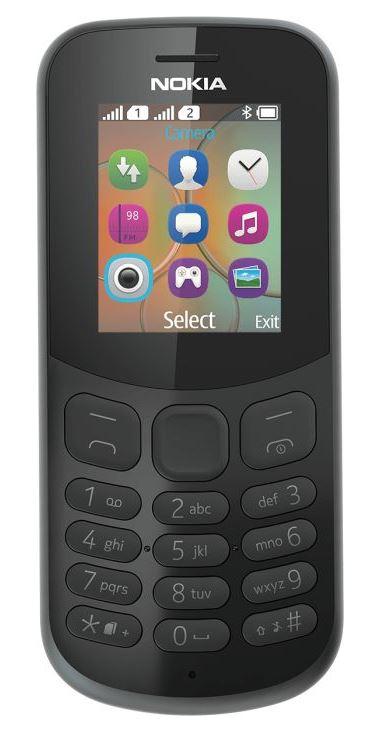 Nokia 130 Single Sim 2017 Black