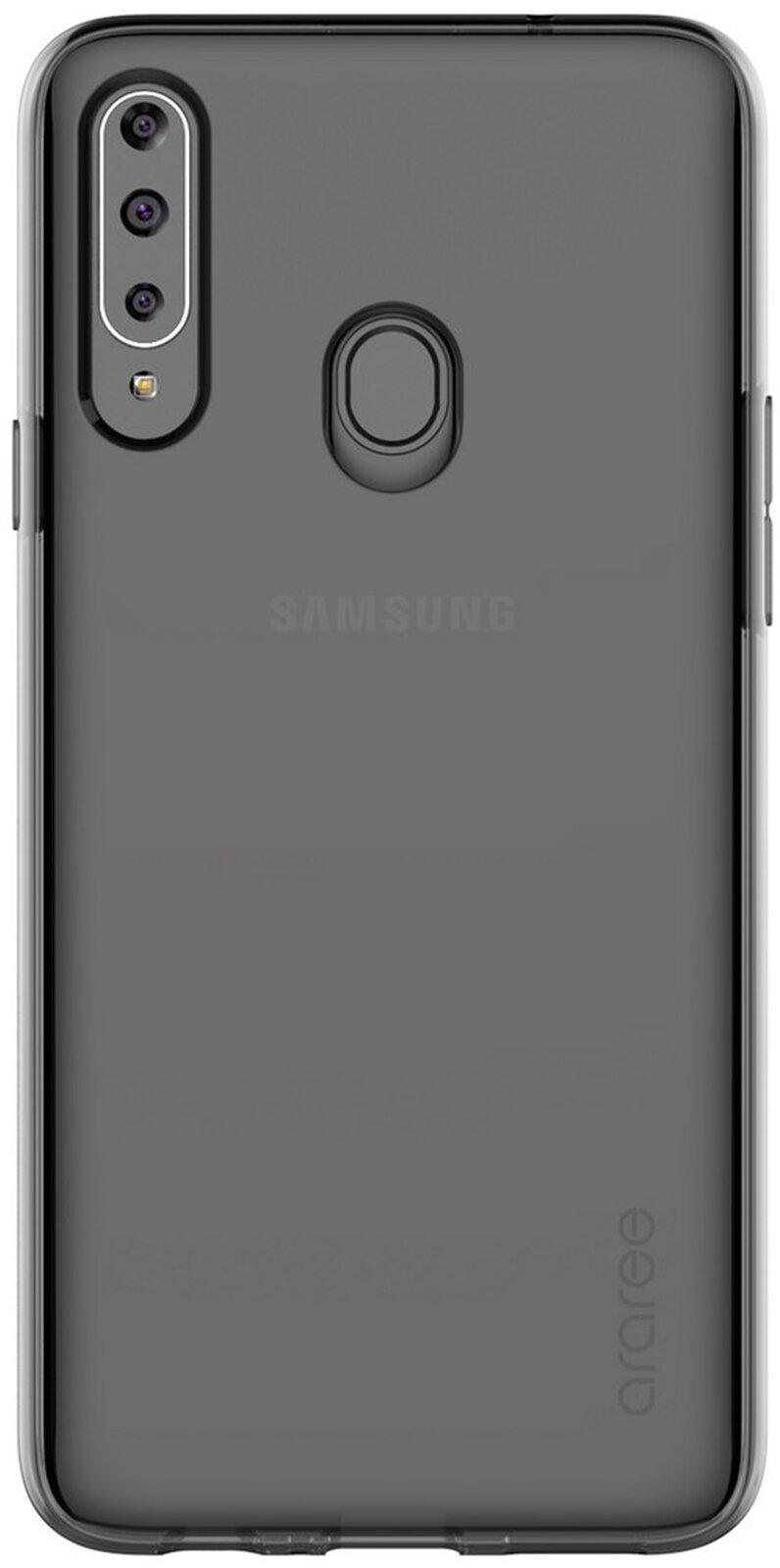 Samsung Poloprůhledný zadní kryt pro A20s Black