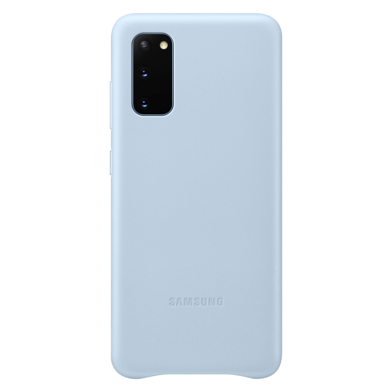 Samsung Kožený kryt pro S20 Sky Blue