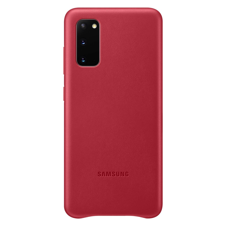 Samsung Kožený kryt pro S20 Red
