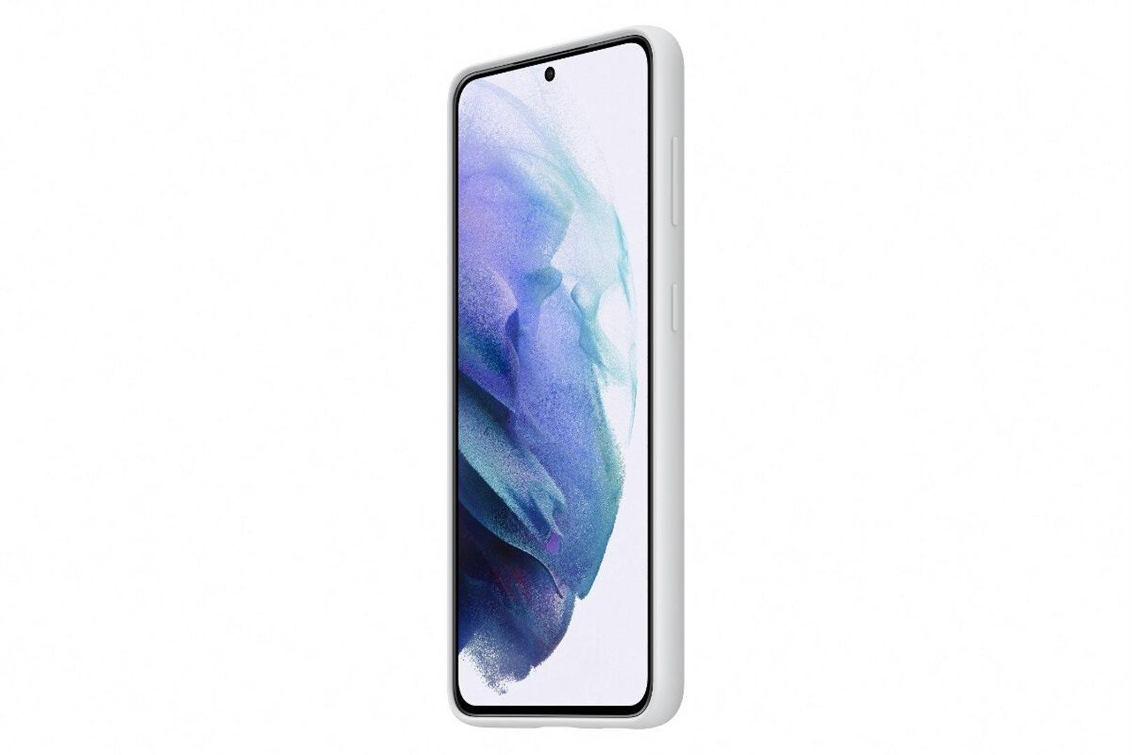 Samsung Silikonový zadní kryt pro S21+ Light Gray