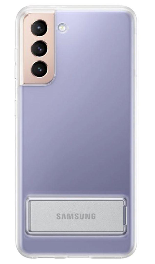 Samsung Průhledný zadní kryt se stojánkem pro S21+a Transparent