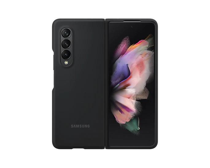Samsung Silikonový zadní kryt Z Fold3 Black