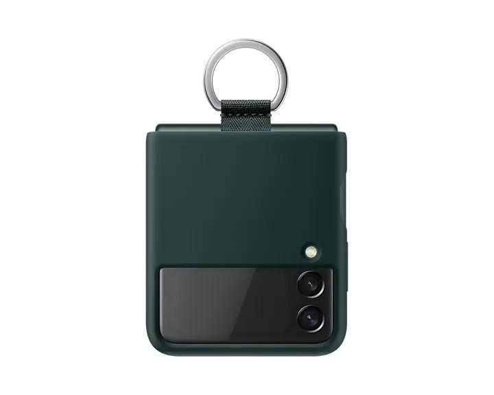 Samsung Silikonový kryt s držákem Z Flip3 Green