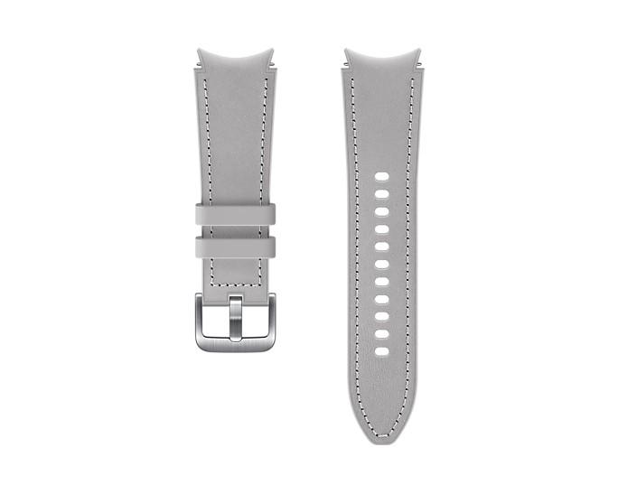 Samsung Hybridní kožený řemínek (20 mm,S/M) Silver