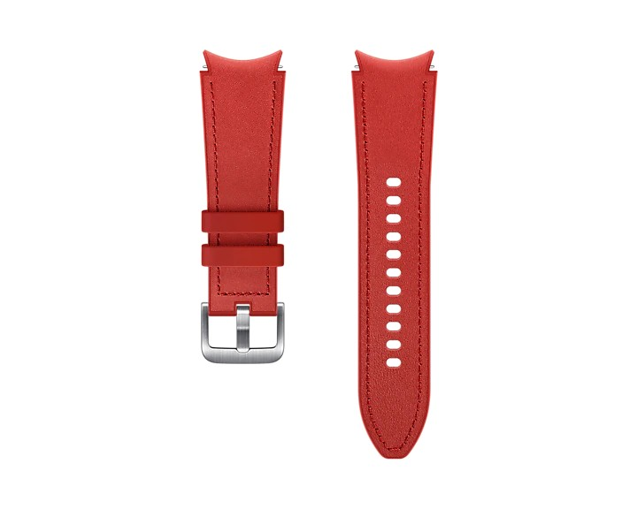 Samsung Hybridní kožený řemínek (20 mm,M/L) Red