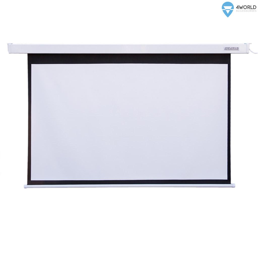4World Projekční plátno elektrické DO 145x110 72