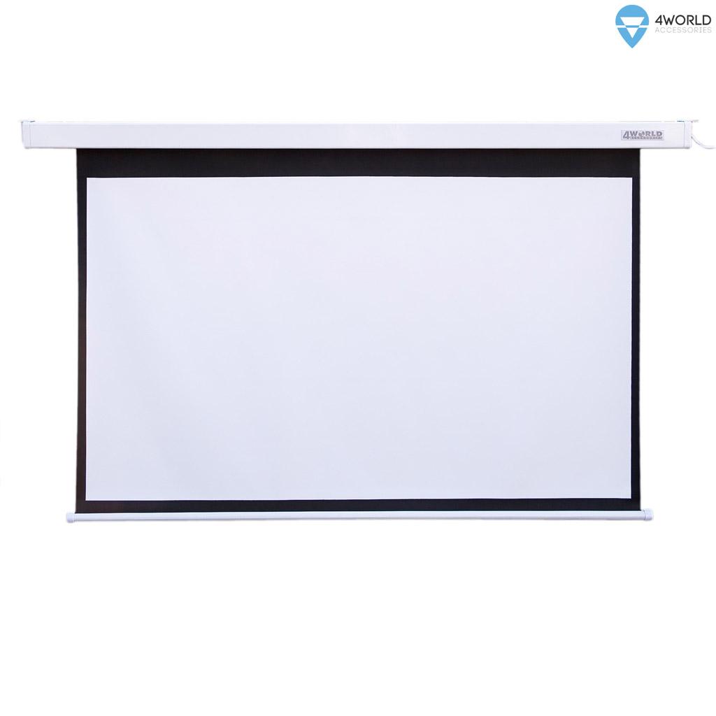 4World Projekční plátno elektrické DO 186x105 84