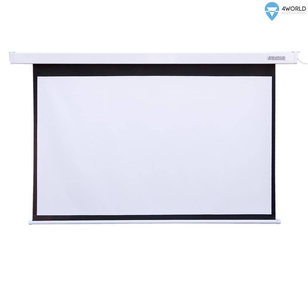 4World Projekční plátno elektrické DO 221x124 100