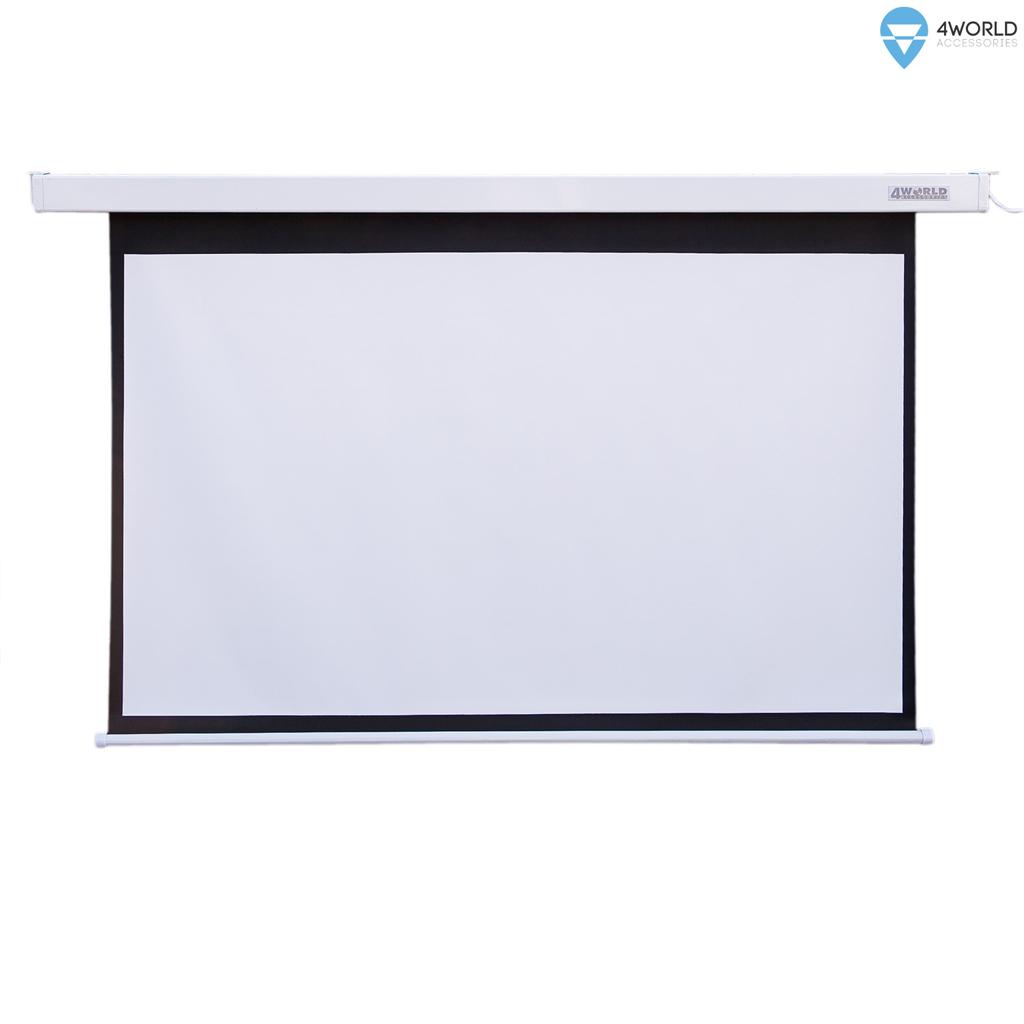 4World Projekční plátno elektrické 221x124 100