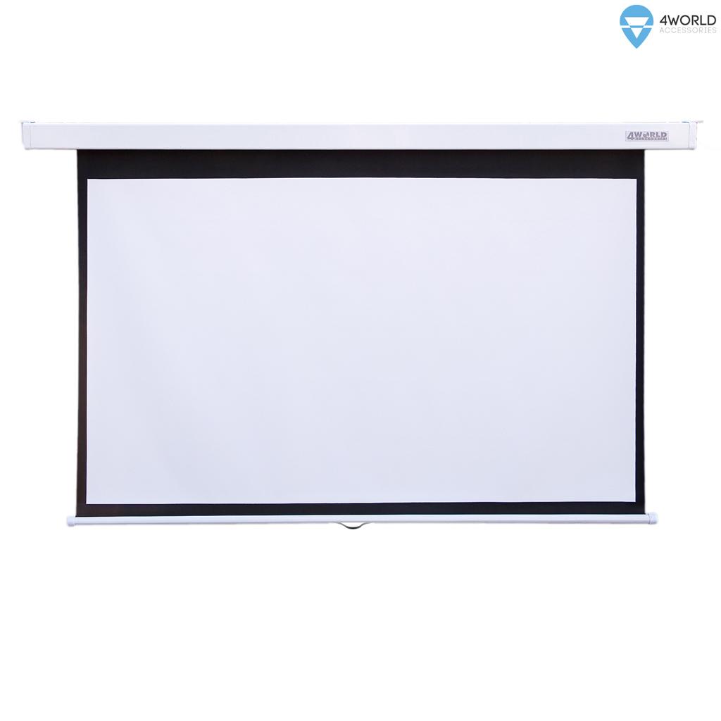 4World Projekční plátno manuální 221x124 100