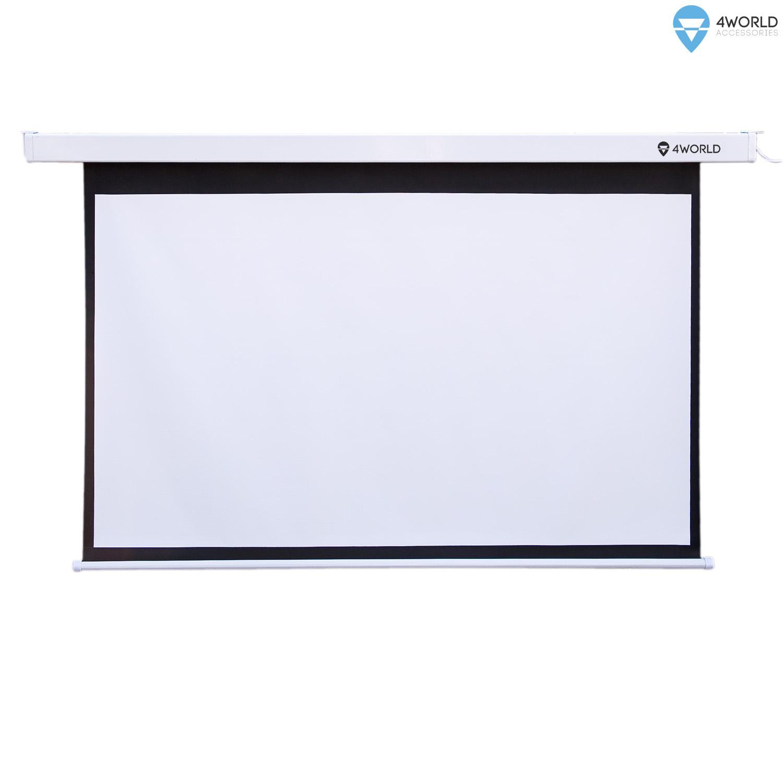4World Projekční plátno manuální 203x114.5 92