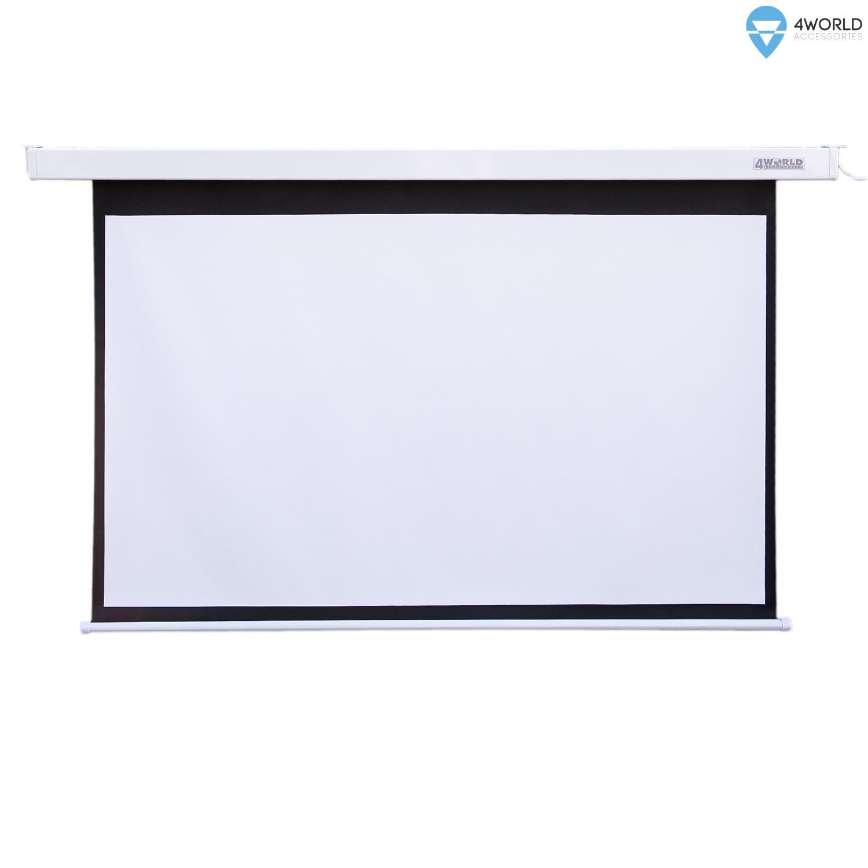 4World Projekční plátno elektrické DO 260x195 128