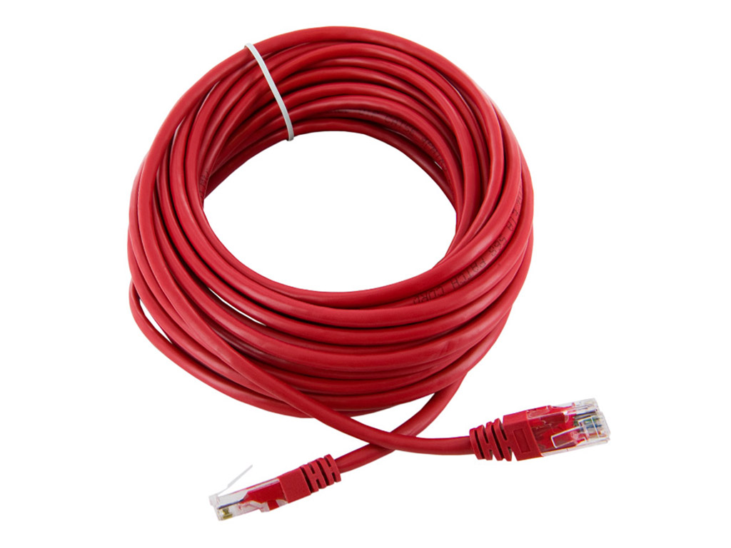 4World Patch kabel RJ45 Cat5e UTP 10m Red