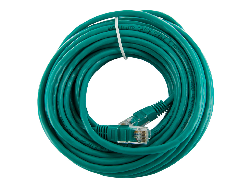 4World Patch kabel RJ45 Cat5e UTP 10m Green