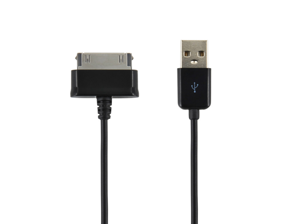 4World Datový kabel Galaxy Tab 1.0m Black