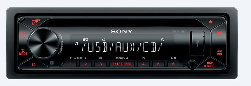 Sony autorádio s CD CDX-G1301, AUX, USB