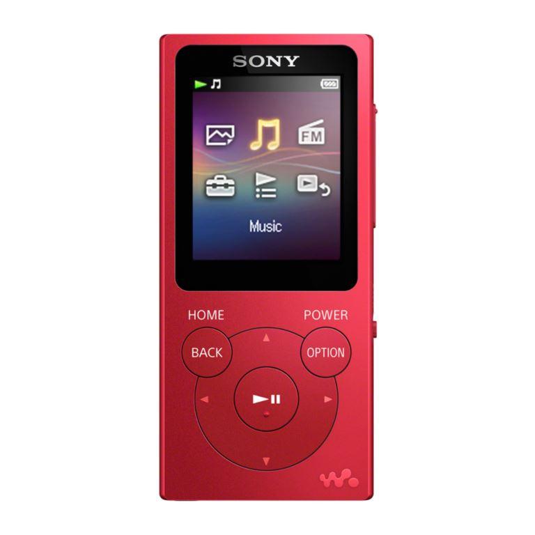 Sony MP4 4GB NWZ-E393 červený