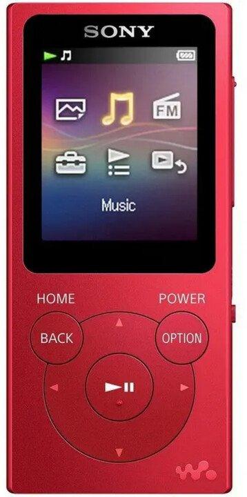 Sony MP3 8GB NW-E394L, červený