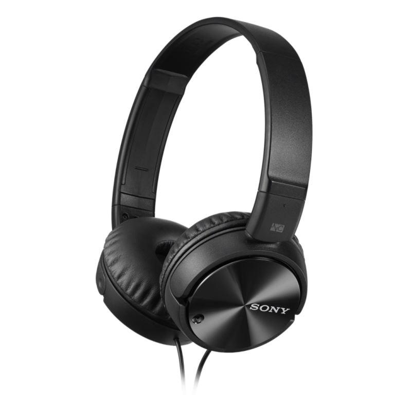 SONY MDR-ZX110NA - Sluchátka přes hlavu, Noise cancelling - Black