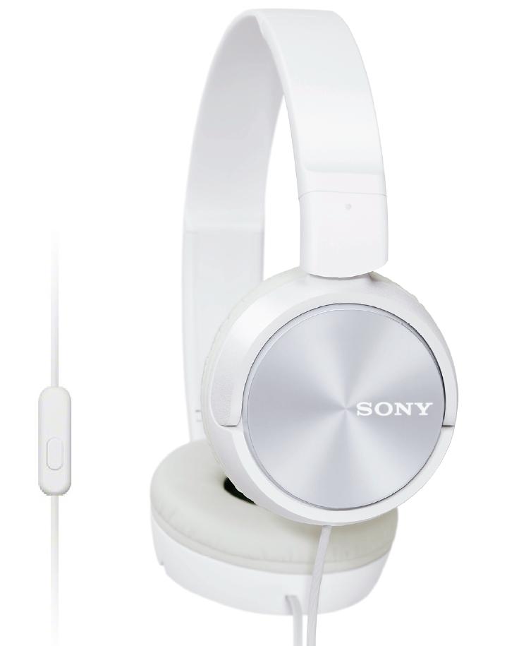 SONY sluchátka MDR-ZX310AP, handsfree, bílé