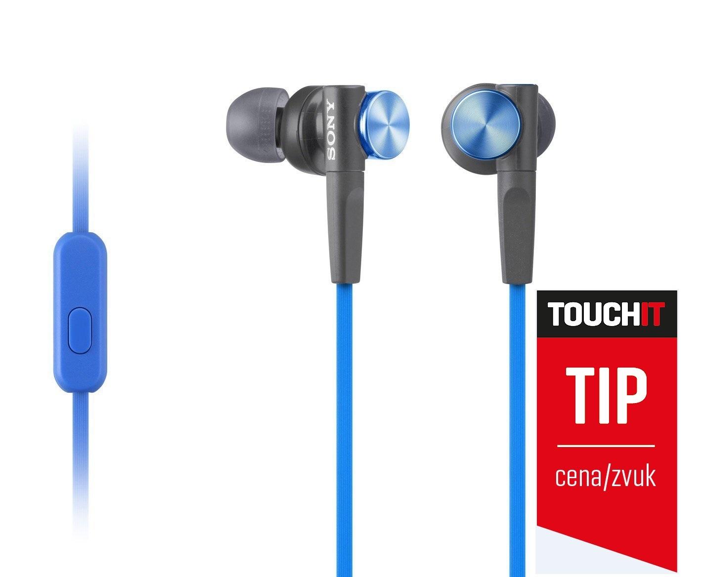SONY MDR-XB50AP Sluchátka do uší EXTRA BASS - Blue