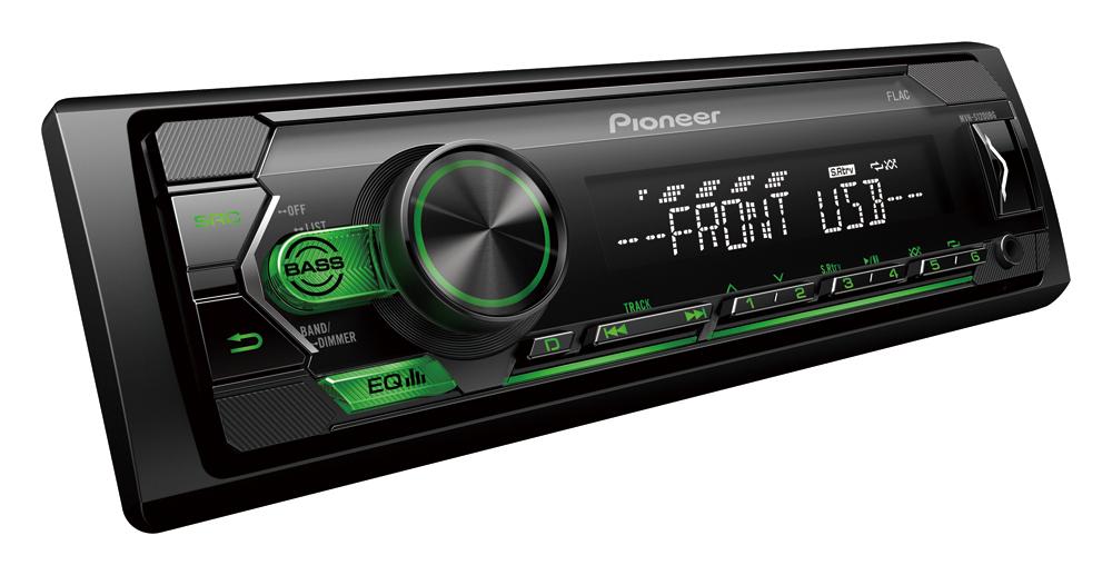 Pioneer MVH-S120UBG autorádio s USB zelené