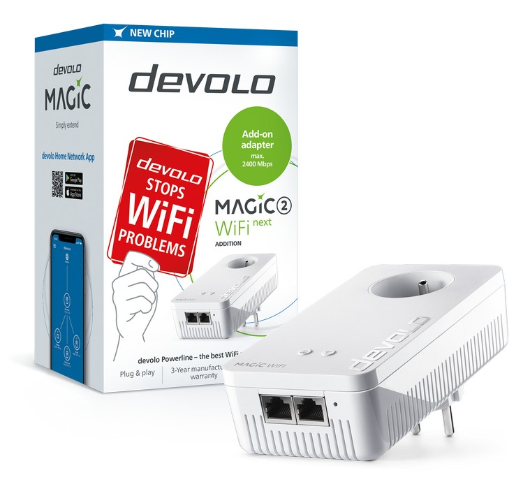 devolo Magic 2 WiFi next rozšiřující modul 2400mbps