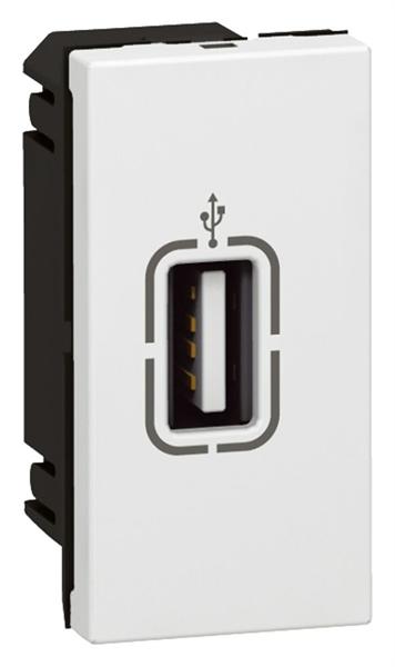 MOSAIC zásuvka USB 1M bílá