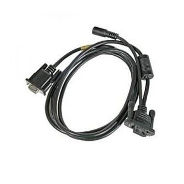 Cable: RS232, black, DB9, 5V, 2.9m (9.5') straight, External IO