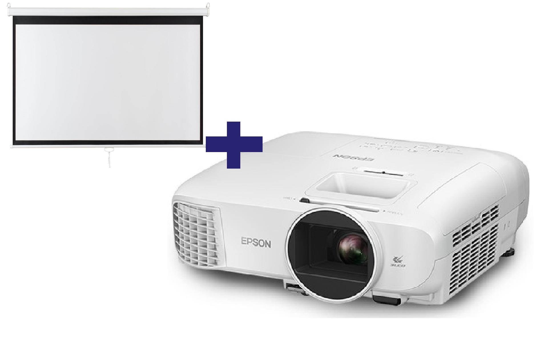 3LCD Epson EH-TW5700, FullHD, 2700 Ansi + plátno Aveli 200 x 125