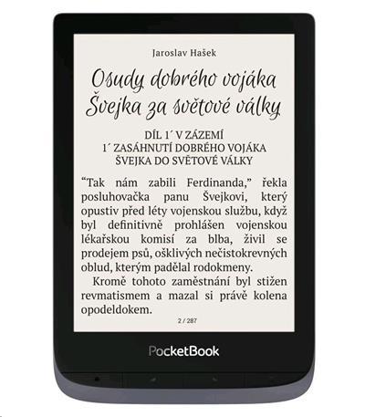 E-book POCKETBOOK 632 Touch HD 3, 16GB,  Metallic Grey