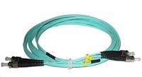 Duplexní patch kabel MM 50/125, OM3, ST-ST, LS0H, 1m