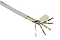 FTP kabel LYNX, Cat5E, drát, LS0H, DCa, šedý, 305m