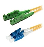 Duplexní patch kabel SM 9/125, OS2, E2000(APC)-LC(PC), LS0H, 2m