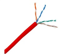 UTP kabel PlanetElite, Cat5E, licna, PVC, červená, 305m
