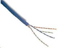 UTP kabel PlanetElite, Cat5E, drát, PVC, modrá, 305m