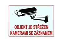 Bezpečnostní samolepka pro kamerové systémy, bílá, 140x100mm