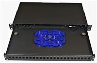 Optická vana výsuvná 1U, 24x SC simplex (24x LC duplex, 24x E2000), vč.kazety Optronics na 24 svarů, černá