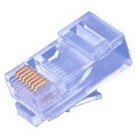 Konektor UTP RJ45 (8p8c), Cat5E, 50µm, drát - 100 ks
