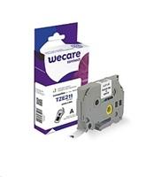 WECARE páska pro BROTHER TZE-221, Black/White, 9mm x 8m (TZE221)