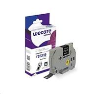 WECARE páska pro BROTHER TZE-335, White/Black, 12mm x 8m (TZE335)