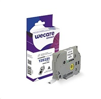WECARE páska pro BROTHER TZE-231, Black/White, 12mm x 8m (TZE231)