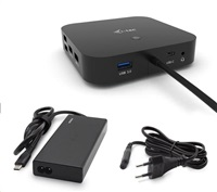 i-tec USB-C Dual Display Docking Station s Power Delivery 65W + i-tec Universal Charger 77W