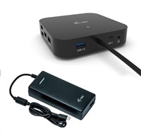 i-tec USB-C Dual Display Docking Station s Power Delivery 100W + i-tec Universal Charger 112W