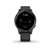 Garmin monitorovací náramek a hodinky vívoactive4S Gray/Black Band